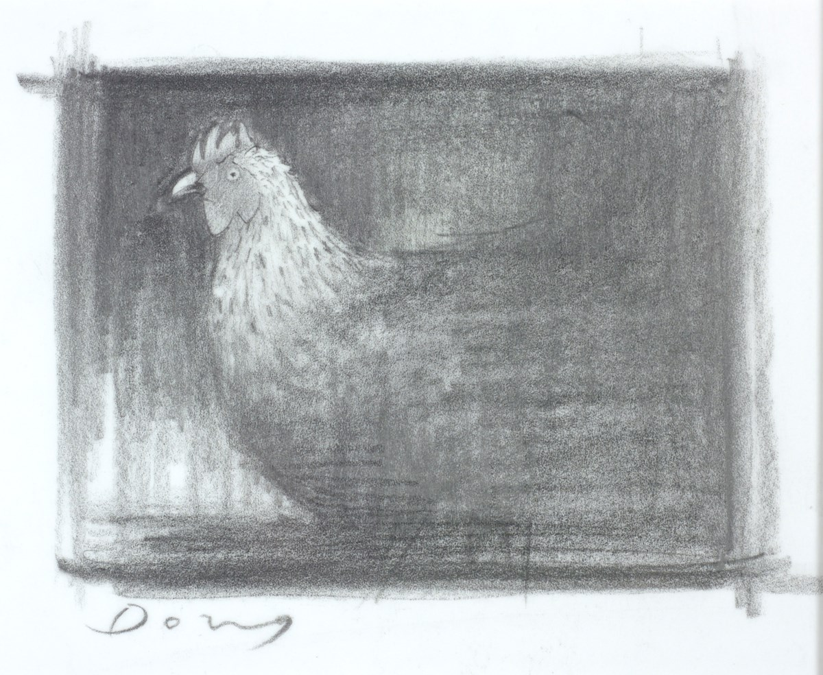 Chicken (Study) by doug hyde -  sized 6x5 inches. Available from Whitewall Galleries